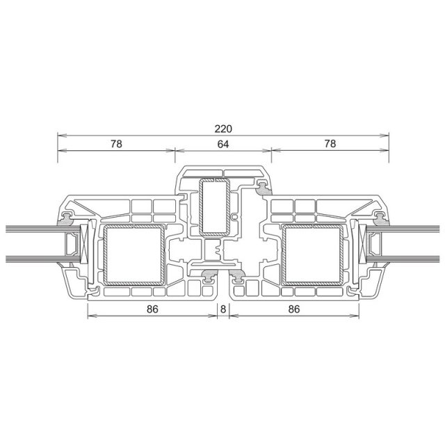 Trocal 70 - Τομή Φ+ΜΠ+Φ (Ανοίγει Μέσα)