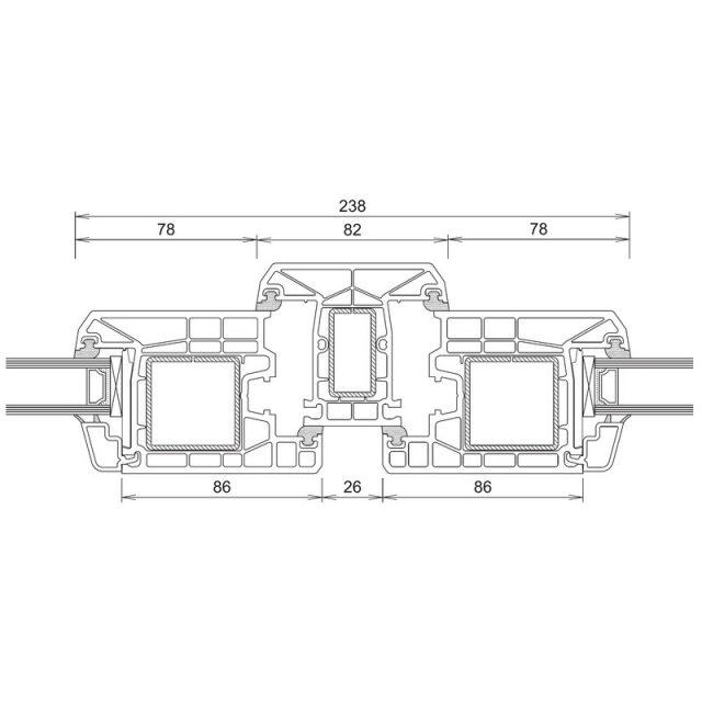 Trocal 70 - Τομή Φ+Τ+Φ (Ανοίγει Μέσα)