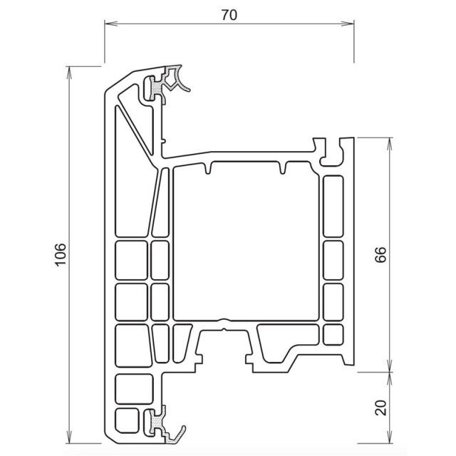Trocal 70 - Τομή Φ (Ανοίγει Έξω)