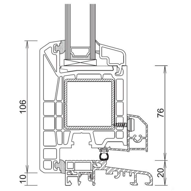 Trocal 70 - Τομή Κ+Φ (Ανοίγει Έξω)