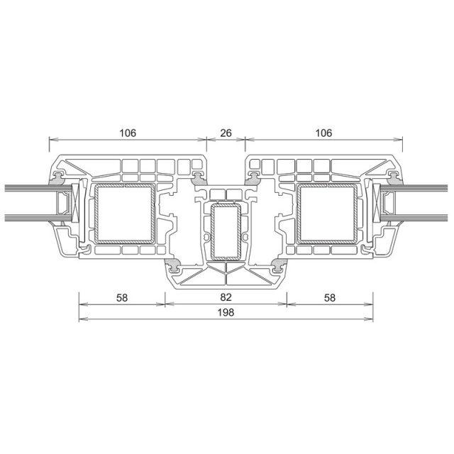 Trocal 70 - Τομή Φ+Τ+Φ (Ανοίγει Έξω)